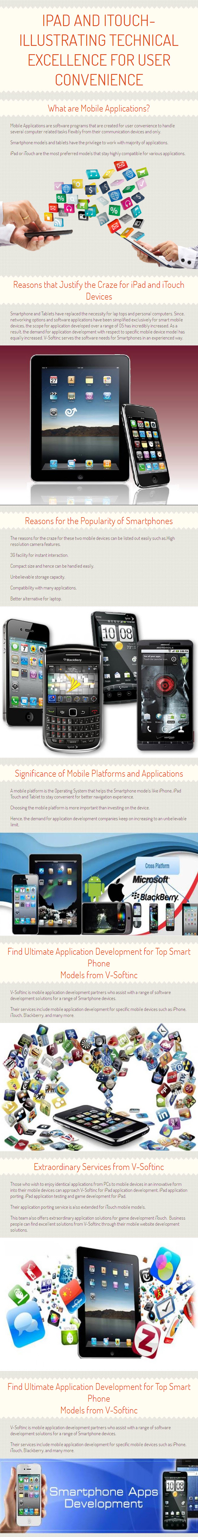 Topic-iPad and iTouch- Illustrating technical excellence for user convenience